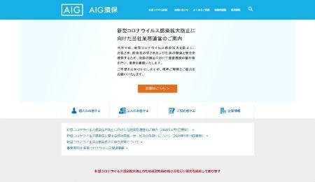 AIG損保_公式HP